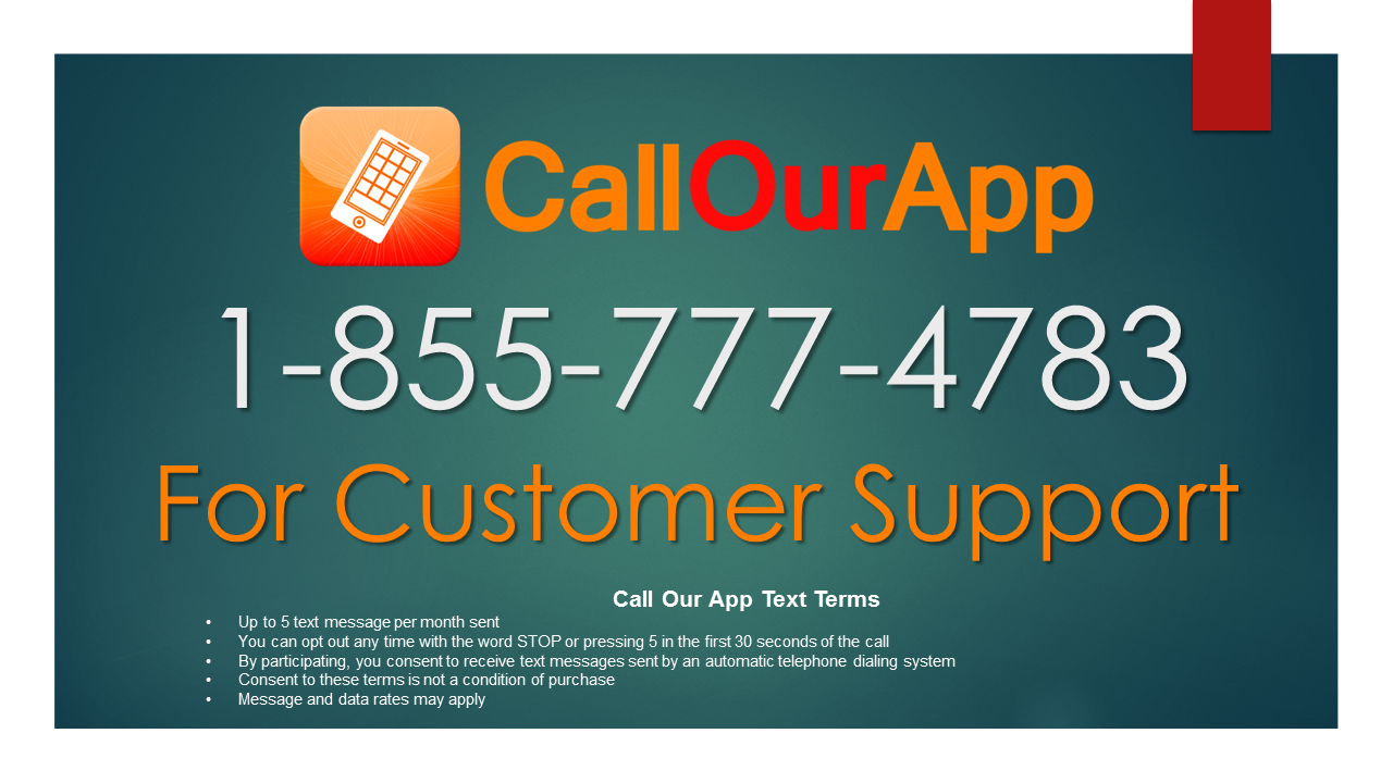 Tap to Call Our App from your mobile phone or computer phone.